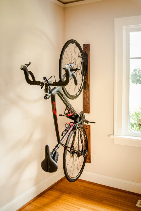 Bike Rack 3 Vertical Wall Mount Adjustable With Wall Protection
