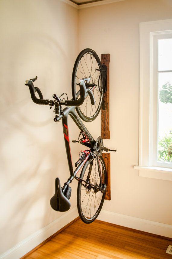 Bike Rack 3 Vertical Wall Mount Adjule With