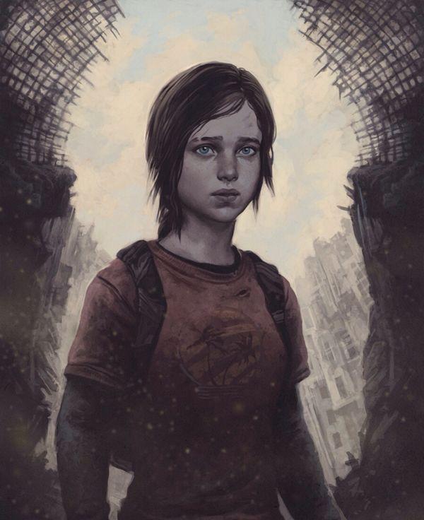 The Last Of Us Fan Art Ellie By Yuri Shwedoff Via Behance