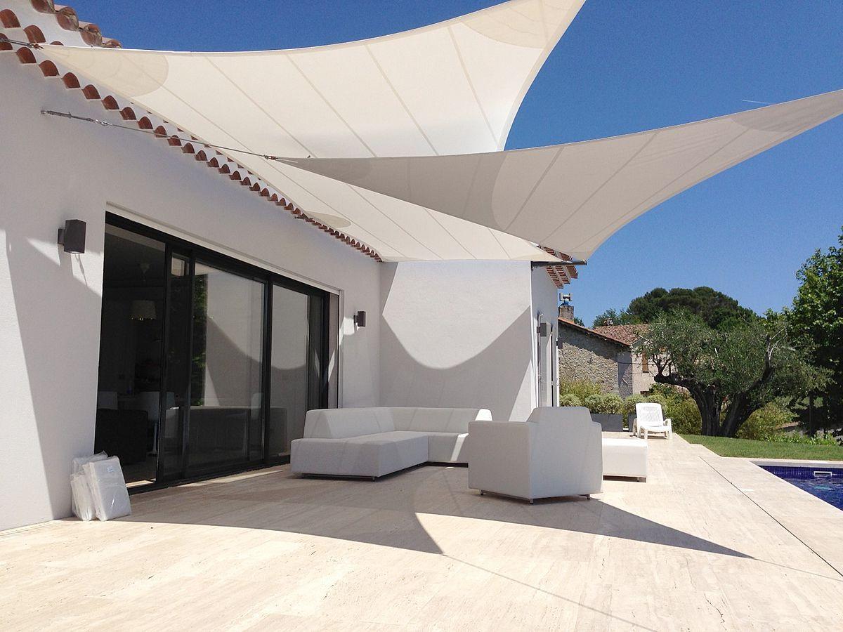 Custom shade sails aude cayatte atelier aude cayatte - Toldos para patios ...
