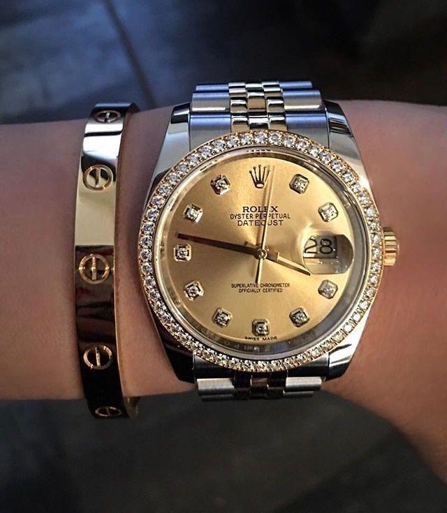 8cc85b877af Cartier   Rolex Relógio Feminino