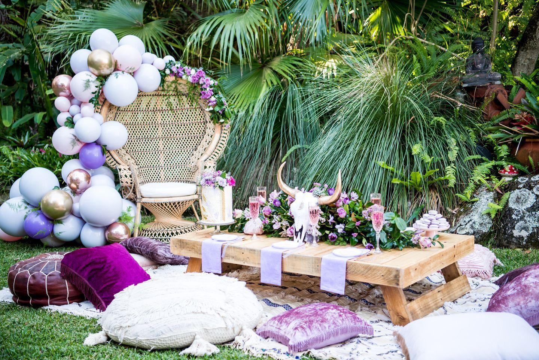 Luxe Backyard Boho Picnic Bohooutdoorparty Boho Picnic Boho Birthday Party Boho Bridal Shower
