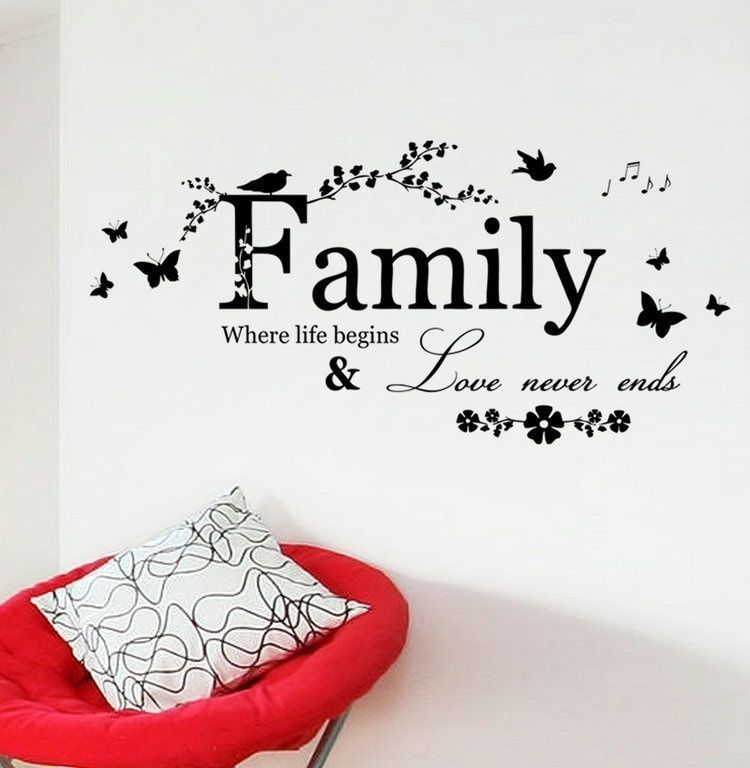 Jm Home Wall Decals Family Where Life Begins Quote Wall Stickers
