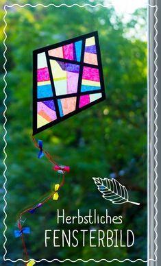 Strahlende Farben im Herbst – Bastelt kunterbunte Fensterbilder #Bastelanleitung auf #arskreativ #DIY