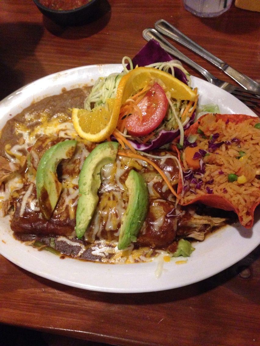 Guacamole enchiladas Mexican food recipes, Food, Dishes