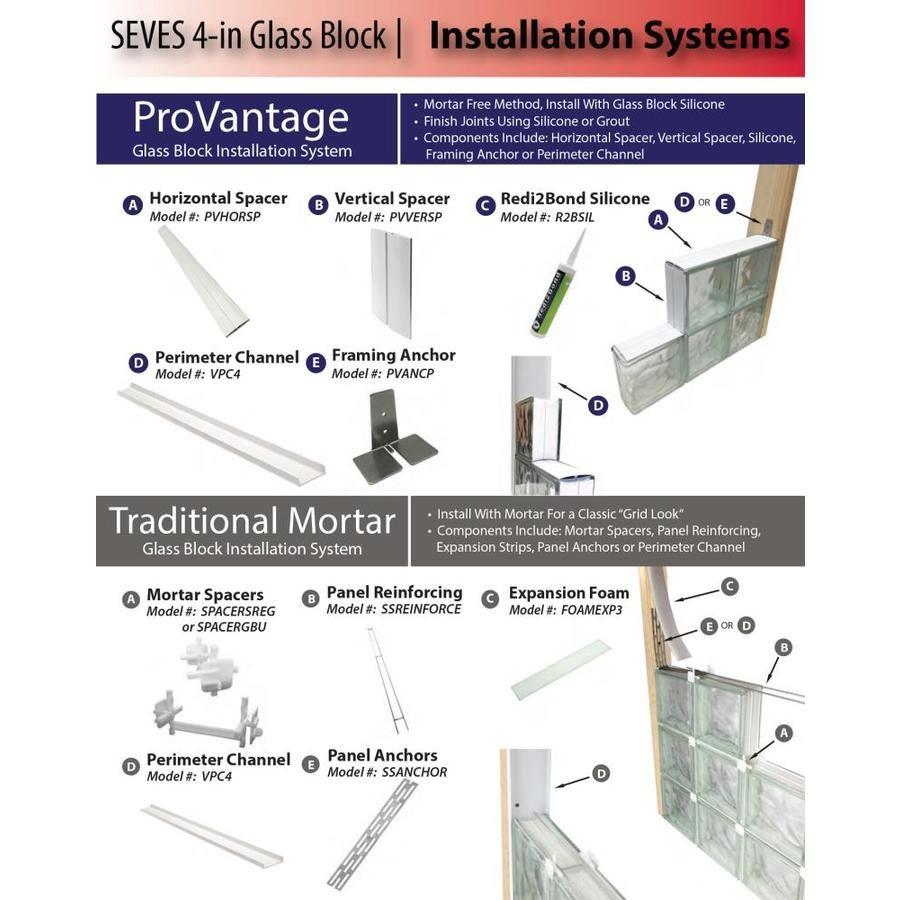 Redi2bond Silicone 10 3 Fl Oz Waterproof Glass Block Sealant Lowes Com Glass Block Installation Glass Blocks Pattern Glass