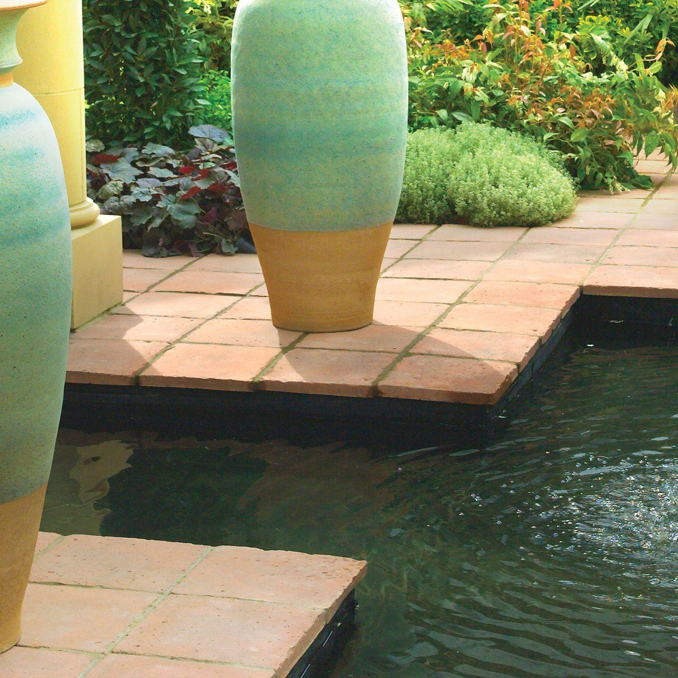 Mellow Terracotta Tile Paving Slab (L)300 (W)300mm Pack of 96