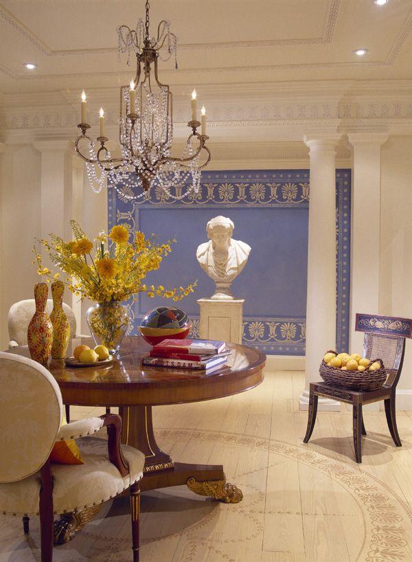 Beautifully ornate crown molding.  Designer Mary Drysdale, Washington, D.C.