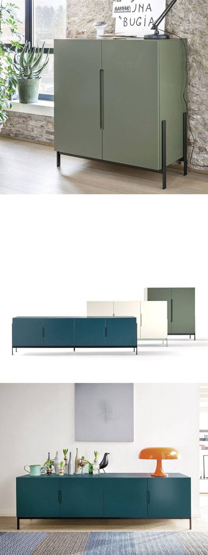Das geradlinige design des float sideboards mit den schmalen f en wirkt leicht und modern - Speisezimmer modern ...