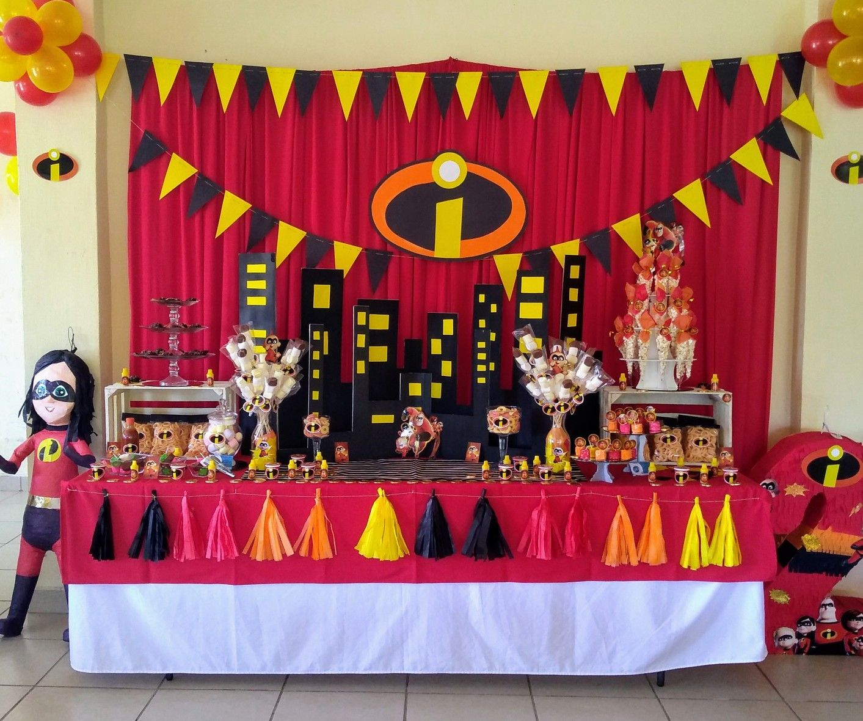 Fiesta Temática Los Increíbles Incredibles Birthday Party Superhero Birthday Party Birthday Party Decorations