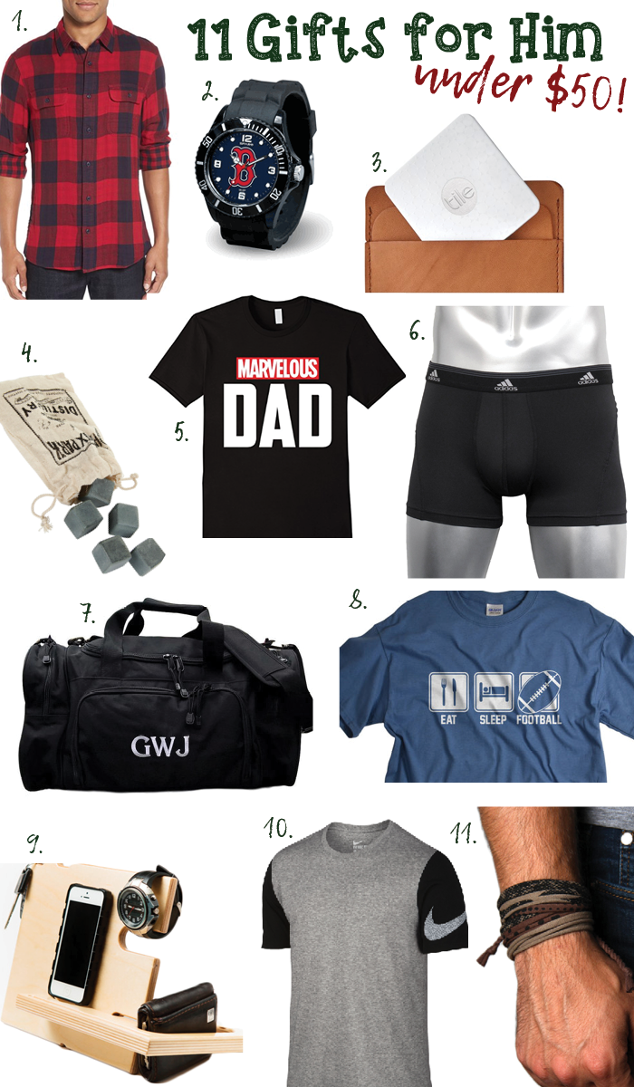 Xmas gifts for him under $50