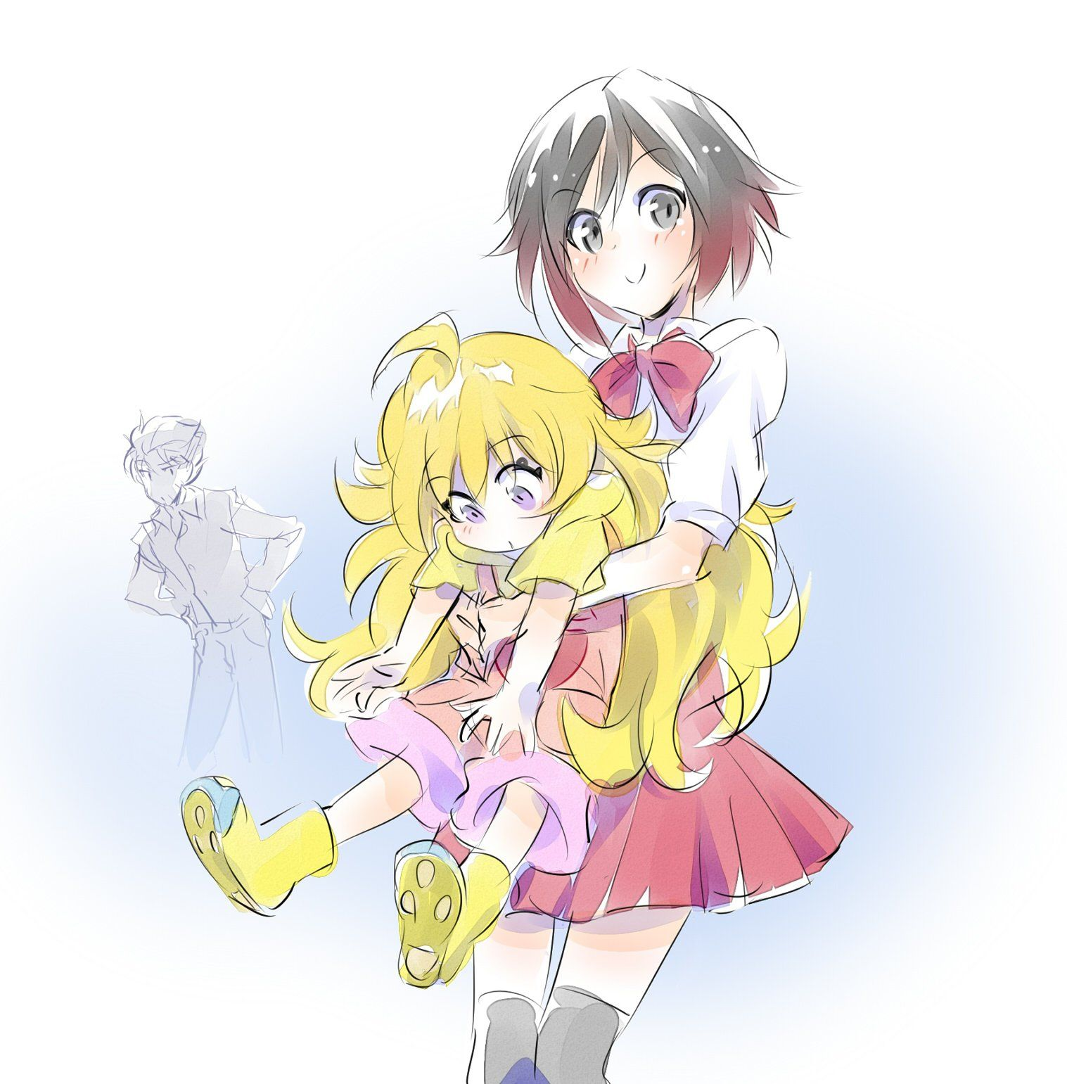 Big Sis Ruby hugging her Little Sis [いえすぱ