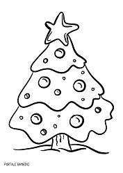 Disegni E Sagome Di Alberi Di Natale Da Stampare Gratis