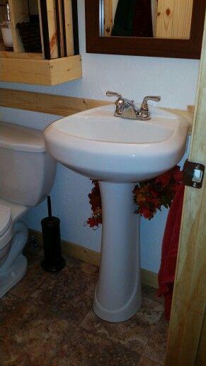 Gentil Hide Pedestal Sink Plumbing