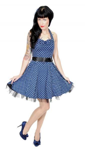 Polka Dot Petticoat Blau 50er Jahre Kleider Rockabilly Fashion Horror Shop Com Modestil 50 Jahre Kleider Mode Uber 50