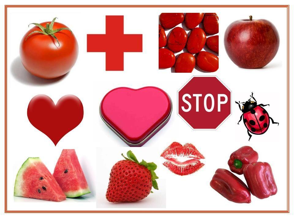 Objetos rojos