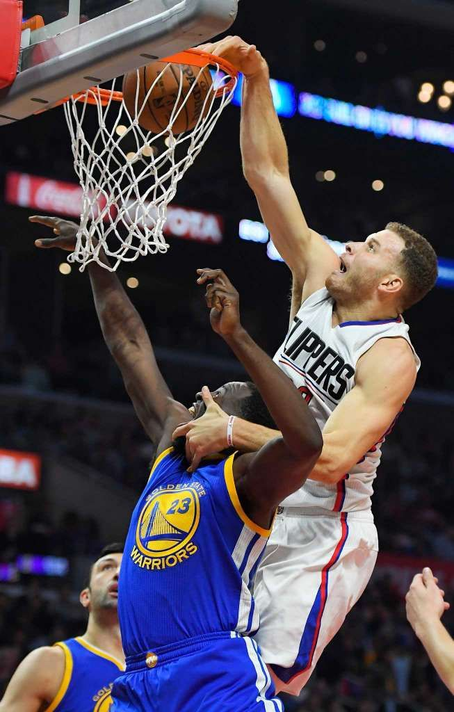 Warriors Dominate Clippers In L A Nba Basketball Game Los Angeles Clippers Blake Griffin