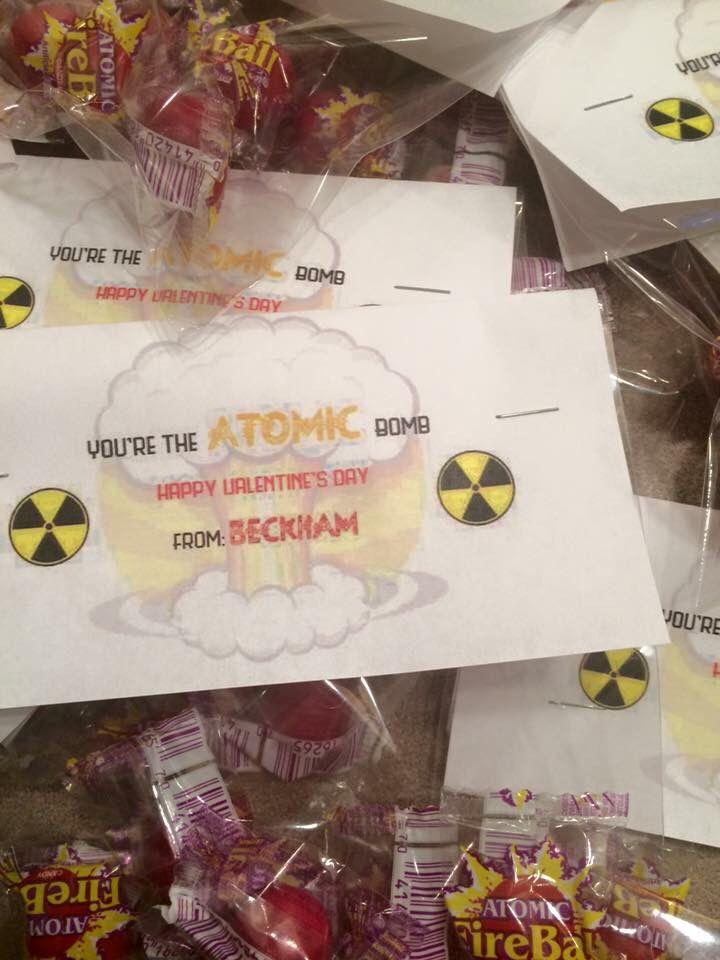 Atomic bomb valentine fireball candy atomic bomb