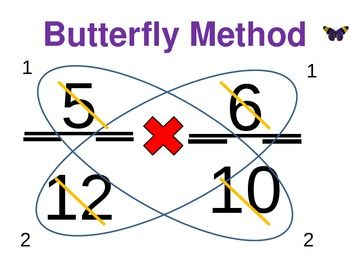 Multiplying Fractions Using Butterfly Method Free Math