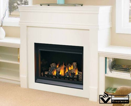 "A traditional style fireplace with modern options, the Napoleon BGD36 offers 36"" of flame viewing area and comes standard with a traditional style log set. Options include stone sets, panels, and surrounds to match any decor."