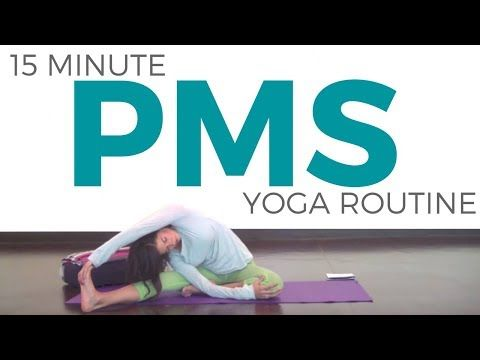 15 minute yoga for during your period  yoga for pms