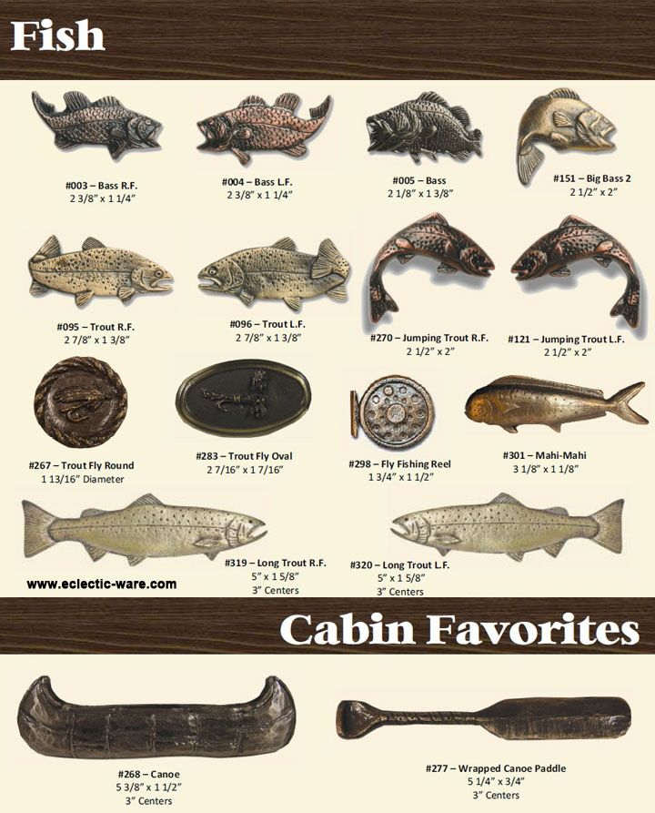 Merveilleux BuckSnort Lodge Products Fish Knobs And Cabinet Pulls   Canoe And Canoe  Paddle Cabinet Pulls