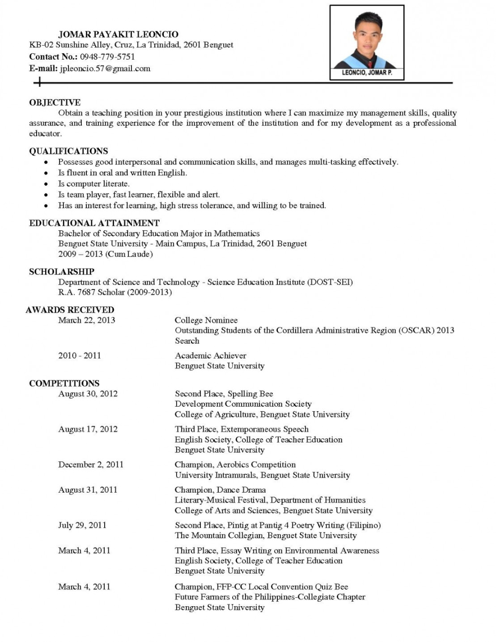 Comprehensive Resume Sample Format Resume examples, Job