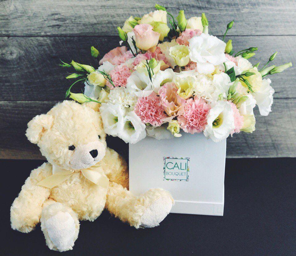 Pink Cares Box Cali Bouquet Carnation Bouquet Flower Gift Carnations