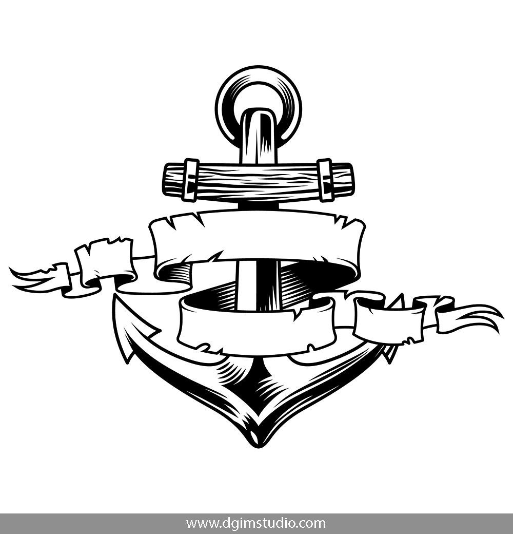 monochrome anchor vector design on white background click to the link and find more nautical elements badges emblems a nautical logo logo templates nautical monochrome anchor vector design on