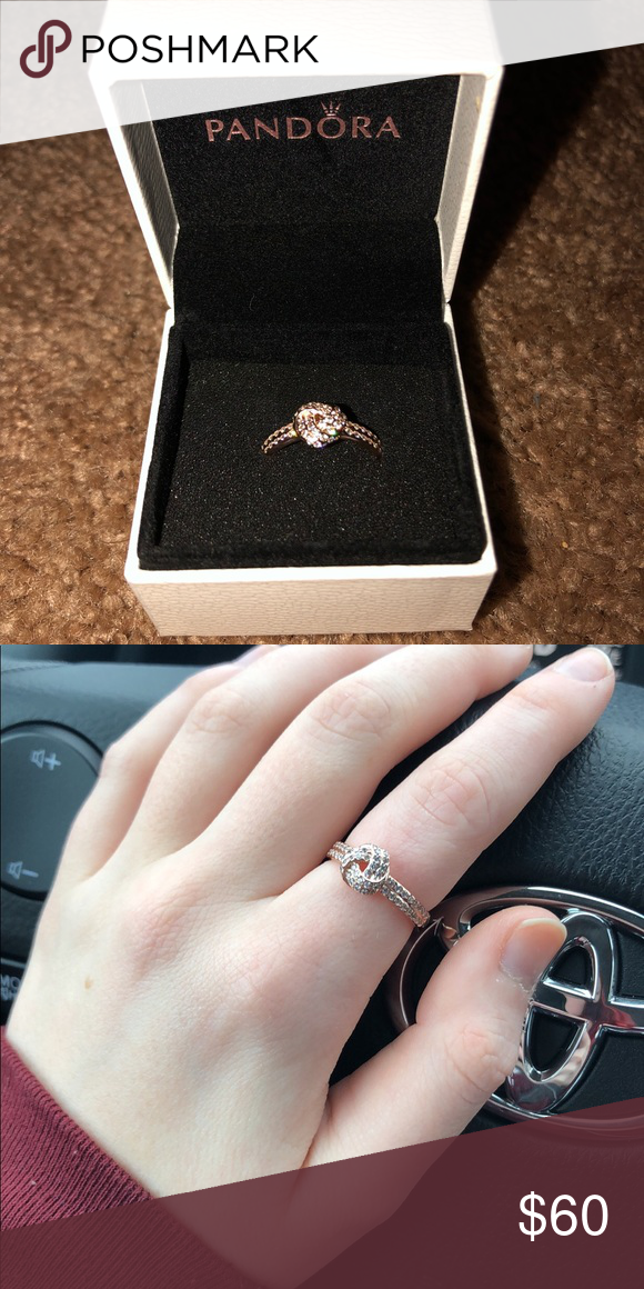 5aa2ab103 Pandora Rose Hold Knot Ring Worn only 2 times so it is in perfect condition  and beautiful as if it just left the shop. Pandora Jewelry Rings