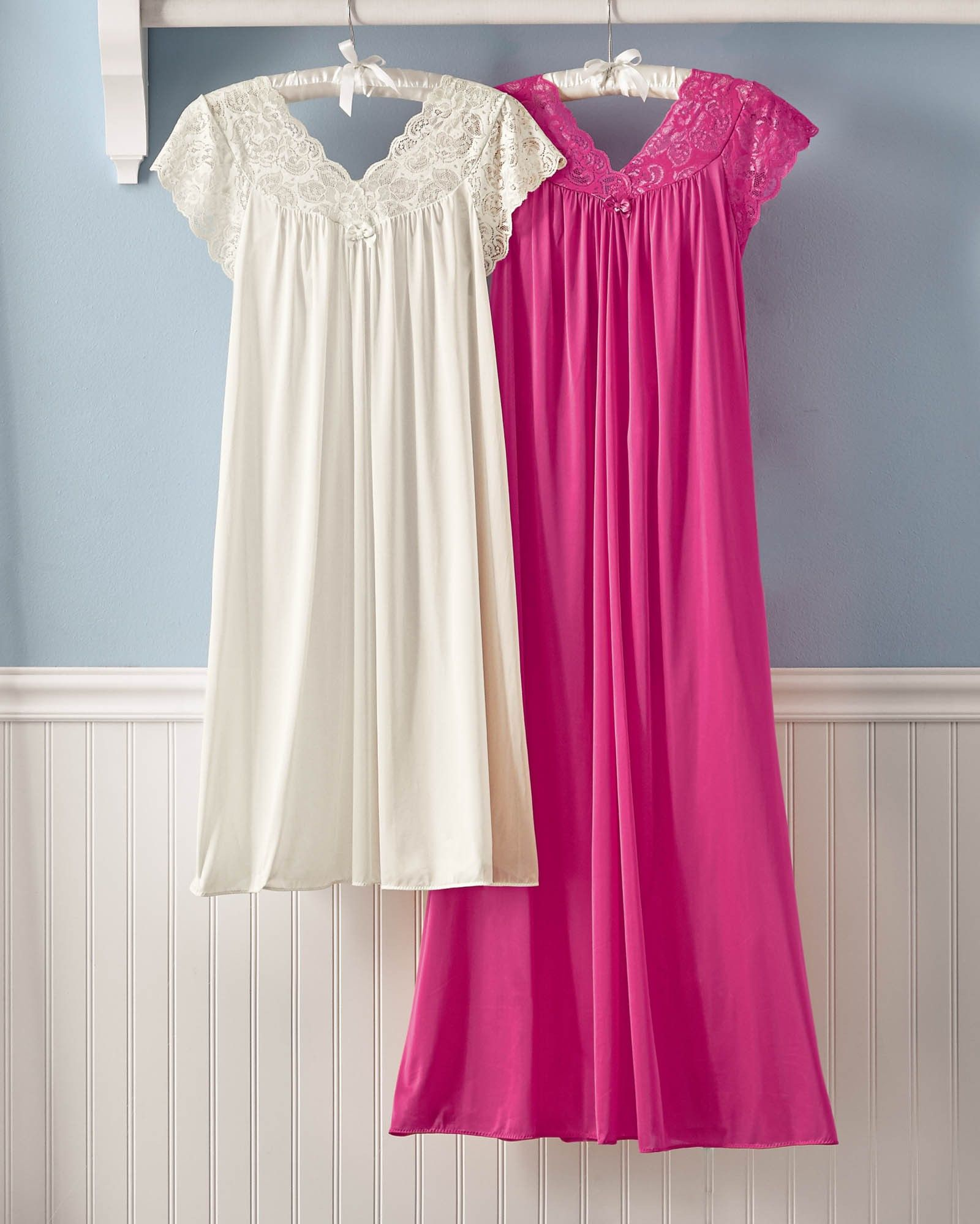 fafa7c76dbcca Silken Luxury Cap Sleeve Nightgown