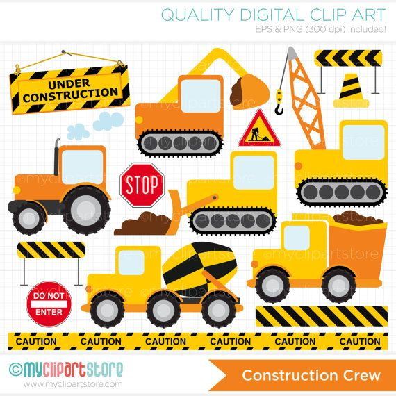 Construction Vehicles Clipart Transportation Clipart Delivery Truck Cement Mixer Personal And Commercial Use Vector Clip Art Htv Autok