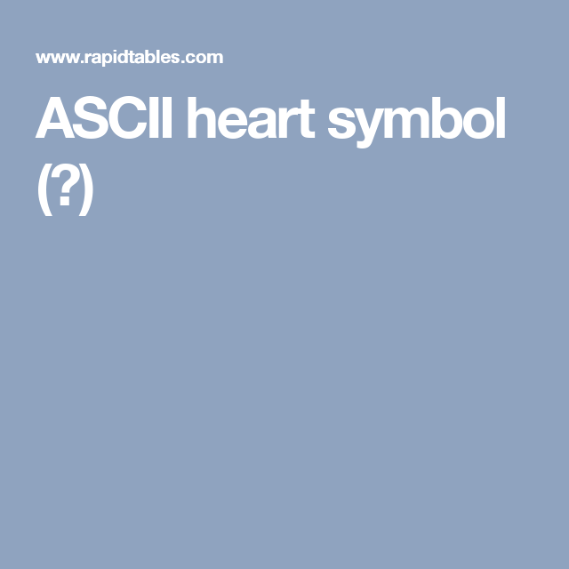 Ascii Heart Symbol Another Blog Wah Pinterest Symbols
