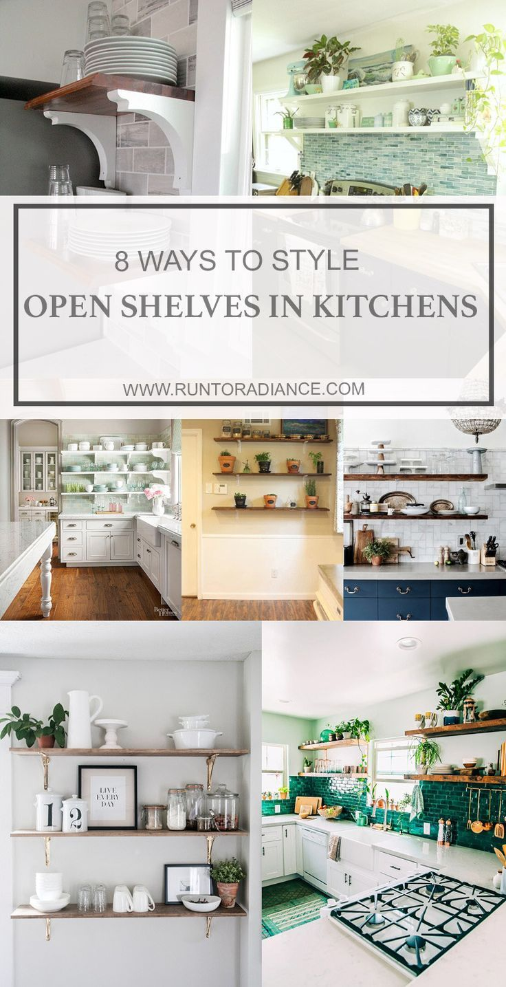 I love the look of open shelves