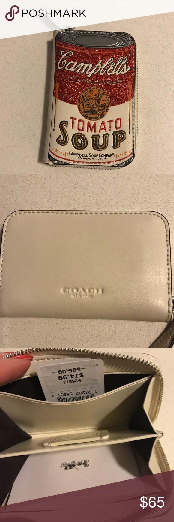 Coach Campbell S Soup Wallet New With Tags Coach Wallet Campbell