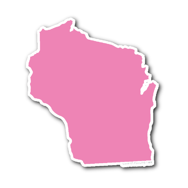 Wisconsin State Shape Sticker Outline White State Shapes Wisconsin State Wisconsin
