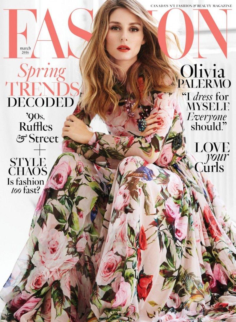 FASHION Magazine March 8 Cover: Olivia Palermo  Fashion
