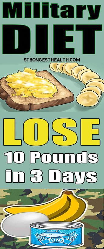 Military Diet Lose 10 Pounds In Just 3 Days