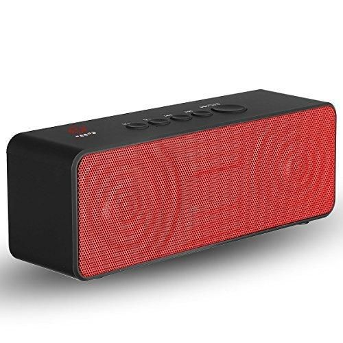 Bluetooth SpeakersGeega 10W Portable Stereo Wireless SpeakerMini outdoor Speaker(SubwooferDeep BassHigh Fidelity SoundBuilt-in Microphone2x5W Acoustic Drivers)for iPhoneiPadSamsungNexusHTC