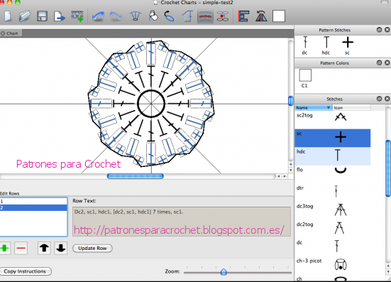 Patrones crochet software para patrones ganchillo o crochet demo this is a program that helps you create symbol crochet charts i was wondering if such a thing was possible and here it is ccuart Images