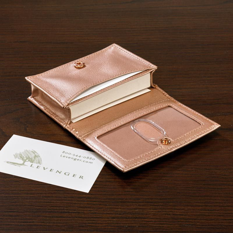 A classic card wallet in limited edition leather rosegold leather a classic card wallet in limited edition leather rosegold leather levenger colourmoves