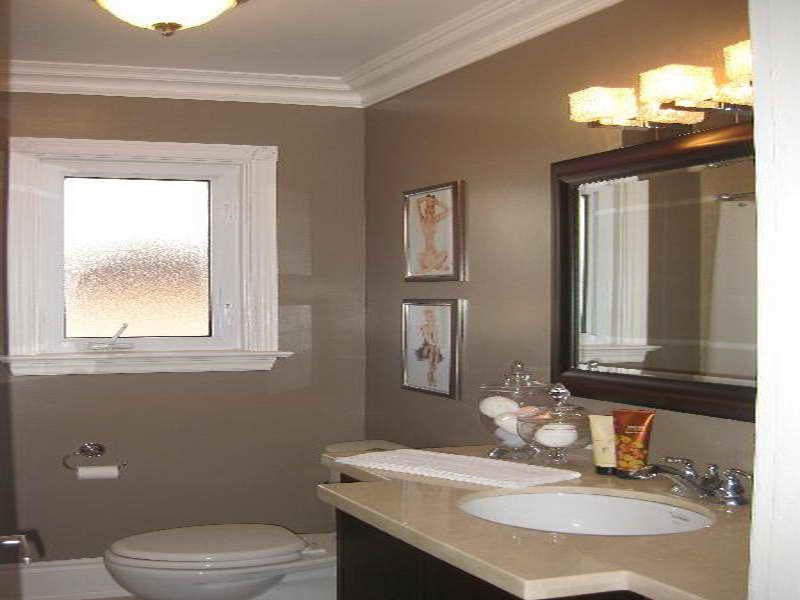Bathroom paint color idea taupe paint colors for interior 2 color bathroom paint ideas