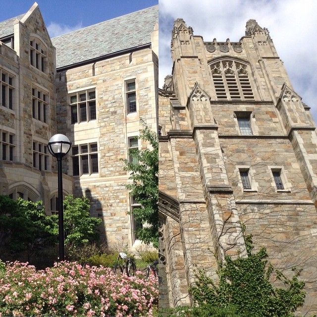 Fact: South Hall (left) is about 80 years younger than the rest of the Law Quad (right). So how did we get it to look so similar? We ordered the stone from the same Massachusetts quarry! #UMichLaw