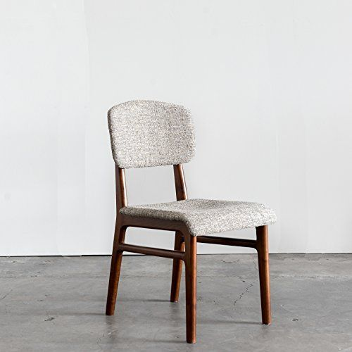 Karla Walnut Mid-Century Modern Dining Chair, Set of 2 chairs