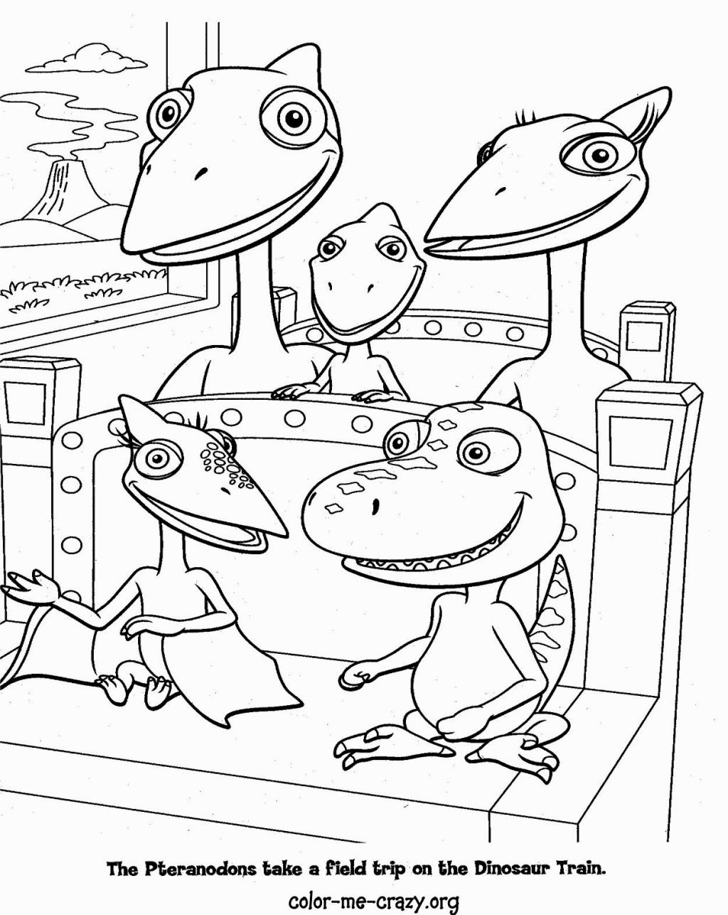 Dinosaur Train Coloring Pages Train Coloring Pages Dinosaur