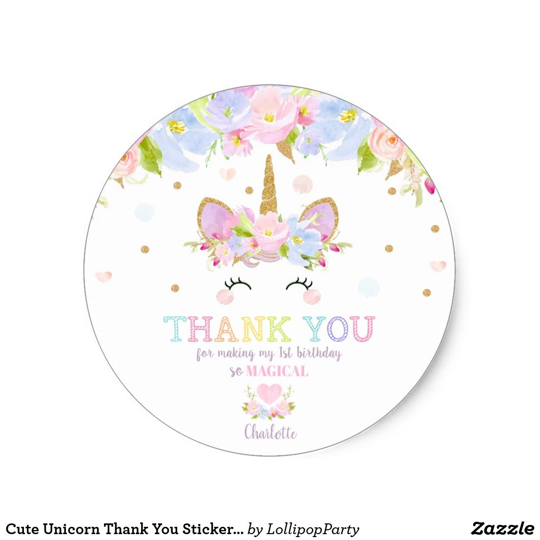 Personalized Charolette/'s Web 1st Birthday Party Favor Gift Tag Stickers