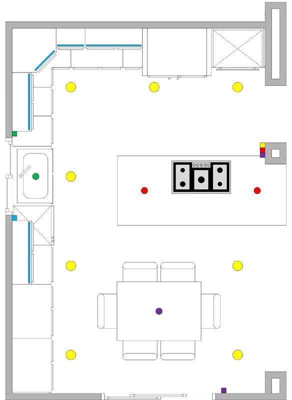 new lighting layout recessed lighting