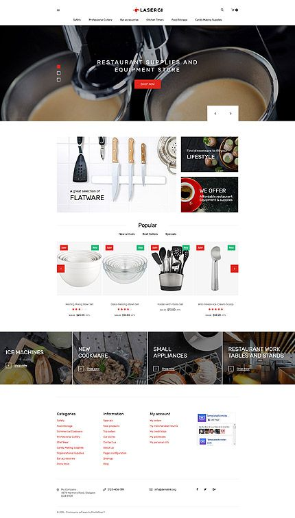 Restaurant Supplies Equipment Online Store Prestashop