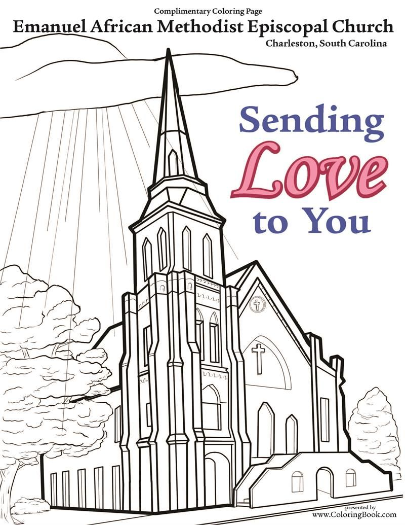 AME Church - Free Coloring Page | COLORING PAGES | Charleston C ...