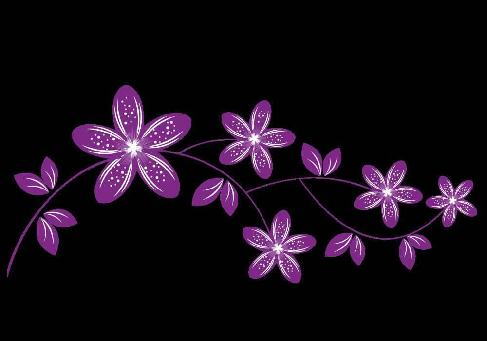 Vinilo Flores En Rama Flores Bocetos De Flores Dibujos De Flores